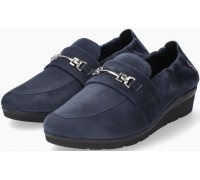 Mobils by Mephisto Nadira Suede Slip-On Shoe for Women - Wide Fit - Navy