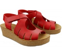 Mobils by Mephisto MISHA women's sandal smooth leather - red strawberry   WIDE FIT