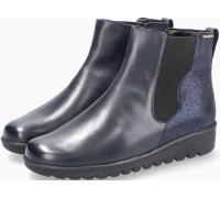 Mobils by Mephisto Amandine Leather & Nubuck Ankle Boots for Women - Wide Fit - Navy