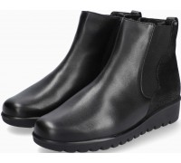 Mobils by Mephisto Amandine Leather & Nubuck Ankle Boots for Women - Wide Fit - Black