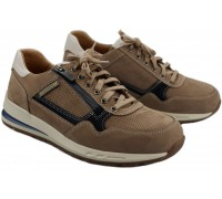 Mephisto BRADLEY Men's Sneaker - Taupe - Leather mix