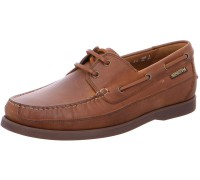 Mephisto Boating brown leather slip-on shoe for men