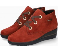 Mobils by Mephisto Peryne Suede Ankle Boots for Women - Wide Fit - Rust