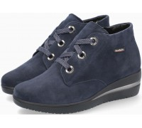 Mobils by Mephisto Peryne Suede Ankle Boots for Women - Wide Fit - Navy