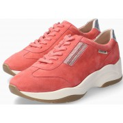 Mephisto Rose Suede Sneaker for Women - Coral