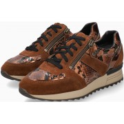 Mephisto Toscana Suede & Leather Sneaker for Women - Brown
