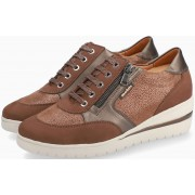 Mobils by Mephisto PATRIZIA brown leather & nubuck lace shoe for women with WIDE FEET
