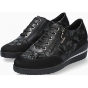 Mobils by Mephisto PATRIZIA black leather & nubuck lace shoe for women with WIDE FEET