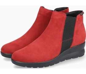 Mephisto Pienza Nubuck Ankle Boots Women - Burgundy