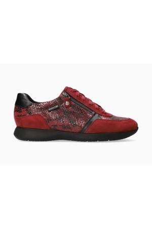 Mephisto Monia Nubuck & Leather Sneaker for Women - Chili