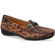 Mephisto NATALA  leather slip-on shoes for women tobacco