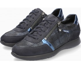 Mephisto Monia Nubuck & Leather Sneaker for Women - Deep Blue