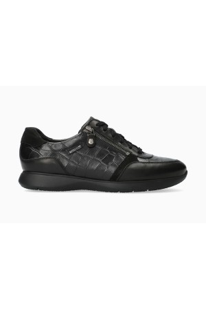 Mephisto Monia Nubuck & Leather Sneaker for Women - Black
