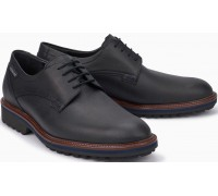 Mephisto Batiste Smooth Leather Lace-Up Shoe for Men Black