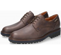 Mephisto Batiste Smooth Leather Lace-Up Shoe for Men Dark Brown