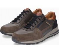 Mephisto BRADLEY leather & suede sneakers for men dark grey