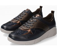 Mobils by Mephisto Imania Leather & Nubuck Sneaker for Women - Wide Fit - Navy