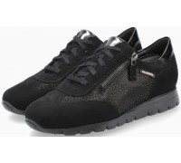 Mobils by Mephisto Donia Leather, Suede & Nubuck Lace-Up Shoes For Women - Wide Fit - Black
