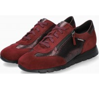 Mobils by Mephisto Donia Leather & Suede Lace-Up Shoes For Women - Wide Fit - Red