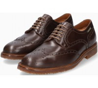 Mephisto Piers Leather Lace-Up Shoe for Men Dark Brown