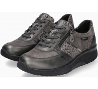 Sano by Mephisto Izae Leather, Nubuck & Suede Sneaker for Women - Wide Fit - Grey