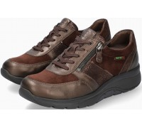Sano by Mephisto Izae Leather, Nubuck & Suede Sneaker for Women - Wide Fit - Bronze