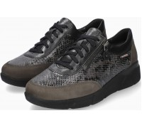 Mobils by Mephisto Ivonia Leather Mix & Nubuck Sneaker for Women - Wide Fit - Graphite