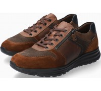Mobils by Mephisto Brayan Leather & Suede Sneakers for Men - Wide Fit - Brown