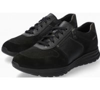 Mobils by Mephisto Brayan Leather & Suede Sneakers for Men - Wide Fit - Black