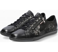 Mobils by Mephisto Hawai Shiny Nubuck Sneaker for Women - Wide Fit - Black
