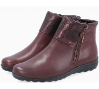 Mobils by Mephisto Catalina Leather Ankle Boots Women - Wide Fit - Chianti