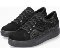 Mephisto Fanya Nubuck & Suede Black Sneaker for Women