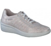Mephisto Chris Perf leather laceshoe for women light sand
