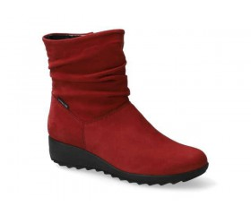 Mephisto Agatha nubuck ankle boots women - red