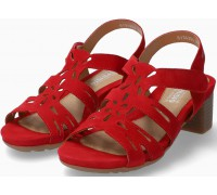 Mephisto Blanca Women's Sandal Suede - Red