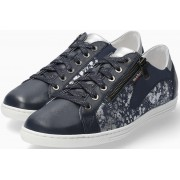 Mephisto Hawai Shiny Smooth Leather Sneaker for Women - Blue