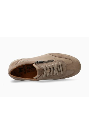 Mephisto Valio Smooth Leather Sneaker for Men - Warm Grey
