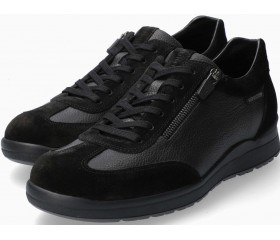 Mephisto Valio Smooth Leather Sneaker for Men - Black