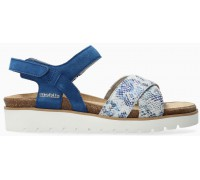 Mobils by Mephisto Tamia Women's Sandal Suede - Wide Fit - Blue