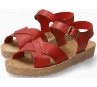 Mephisto Candie Women's Sandal Smooth Leather - Red