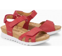 Mephisto QUIRINA Leather Women Sandal - Red