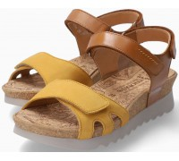 Mephisto QUIRINA Women's Sandal Smooth Leather - Brown - Ochre