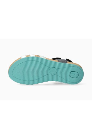 Mephisto QUIRINA Women's Sandal Smooth Leather - Blue - Silver