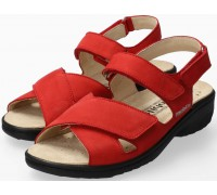 Mobils by Mephisto Geryna Women Sandal Nubuck - Wide Fit - Red