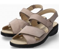 Mobils by Mephisto Geryna Women Sandal Nubuck - Wide Fit - Light Taupe