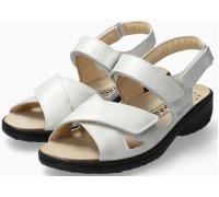 Mobils by Mephisto Geryna Women Sandal Smooth Leather - Wide Fit - White