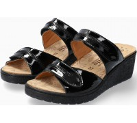 Mobils by Mephisto PAULA Women Sandal Patent Leather - Extra Wide - Black