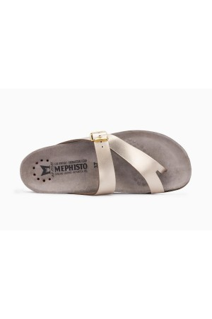 Mephisto Helen Women's Sandal Metallic Leather - Platinum