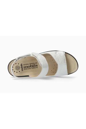 Mephisto Getha Women Sandal Leather - Silver