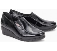 Mephisto Bertrane patent leather black slip-on shoes women